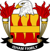 American Coat of Arms for Isham