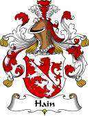 German Wappen Coat of Arms for Hain