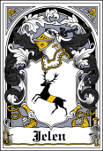 Polish Coat of Arms Bookplate for Jelen