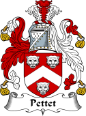 English Coat of Arms for Pettet