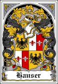 German Wappen Coat of Arms Bookplate for Hauser