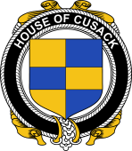 Irish Coat of Arms Badge for the CUSACK family