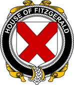 Irish Coat of Arms Badge for the FITZGERALD family