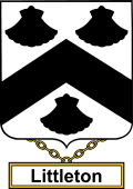 English Coat of Arms Shield Badge for Littleton