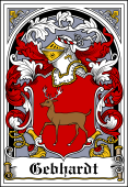 German Wappen Coat of Arms Bookplate for Gebhardt