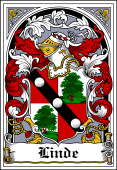 German Wappen Coat of Arms Bookplate for Linde
