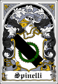 Italian Coat of Arms Bookplate for Spinelli