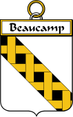 French Coat of Arms Badge for Beaucamp