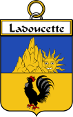 French Coat of Arms Badge for Ladoucette