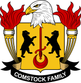 American Coat of Arms for Comstock