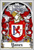Spanish Coat of Arms Bookplate for Yanez