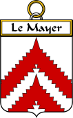 French Coat of Arms Badge for Le Mayer