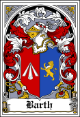 German Wappen Coat of Arms Bookplate for Barth