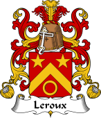 Coat of Arms from France for Leroux (Roux le) I
