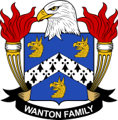 American Coat of Arms for Wanton