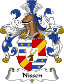 German Wappen Coat of Arms for Nissen