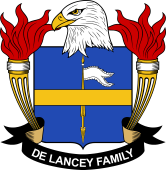 American Coat of Arms for De Lancey