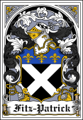Irish Coat of Arms Bookplate for Fitz-Patrick