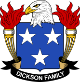 American Coat of Arms for Dickson