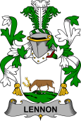 Irish Coat of Arms for Lennon or O'Lennon