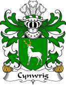 Welsh Coat of Arms for Cynwrig (FYCHAN -or CWNWS DDU)