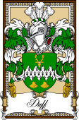 Scottish Coat of Arms Bookplate for Duff