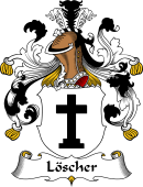 German Wappen Coat of Arms for Löscher