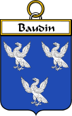 French Coat of Arms Badge for Baudin
