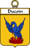 French Coat of Arms Badge for Ducoin (Coin du)