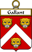 French Coat of Arms Badge for Gallant