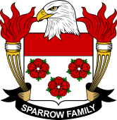 American Coat of Arms for Sparrow
