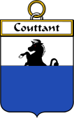 French Coat of Arms Badge for Couttant