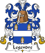 Coat of Arms from France for Legendre (Gendre le)