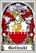 Polish Coat of Arms Bookplate for Golinski