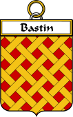 French Coat of Arms Badge for Bastin