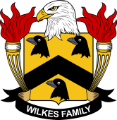 American Coat of Arms for Wilkes