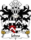 Welsh Coat of Arms for Johns (Sir Hugh, of Swansea)
