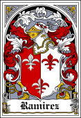 Spanish Coat of Arms Bookplate for Ramirez