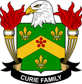 American Coat of Arms for Curie