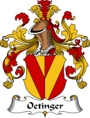 German Wappen Coat of Arms for Oetinger