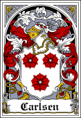 Danish Coat of Arms Bookplate for Carlsen