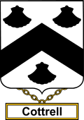 English Coat of Arms Shield Badge for Cottrell