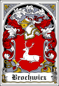 Polish Coat of Arms Bookplate for Brochwicz