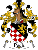 German Wappen Coat of Arms for Peck