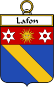 French Coat of Arms Badge for Lafon