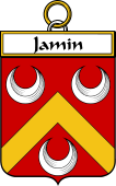 French Coat of Arms Badge for Jamin