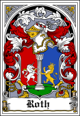 German Wappen Coat of Arms Bookplate for Roth