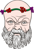 Gods and Goddesses Clipart image: Silenus Head