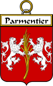 French Coat of Arms Badge for Parmentier