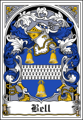 Irish Coat of Arms Bookplate for Bell